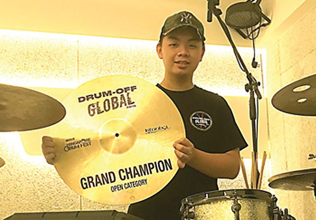 Rayner Stefanoline, Grand Champion Drum-Off Global 2019 di Singapura